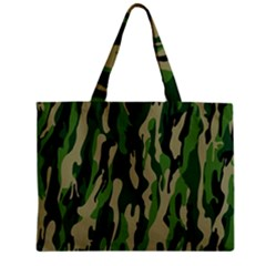 Green Military Vector Pattern Texture Zipper Mini Tote Bag by BangZart