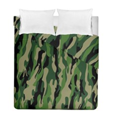 Green Military Vector Pattern Texture Duvet Cover Double Side (full/ Double Size)