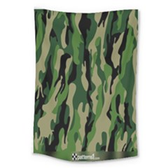 Green Military Vector Pattern Texture Large Tapestry by BangZart