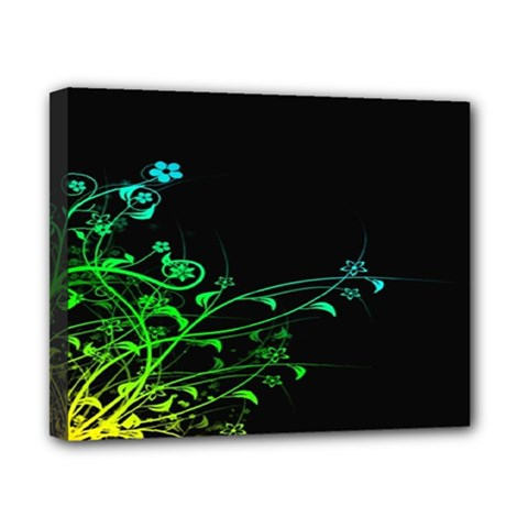 Abstract Colorful Plants Canvas 10  X 8
