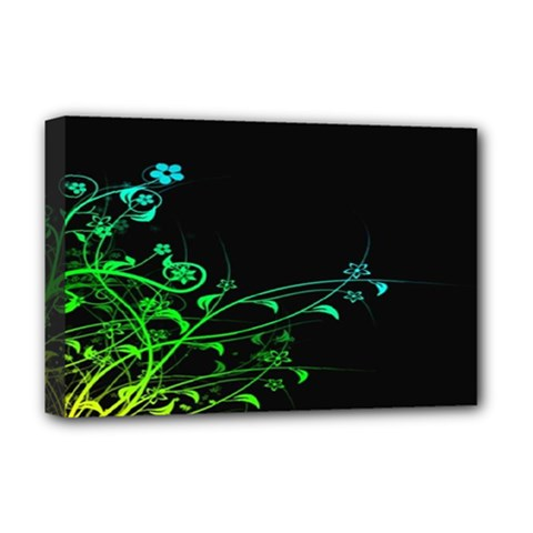 Abstract Colorful Plants Deluxe Canvas 18  X 12   by BangZart