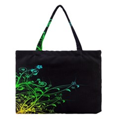Abstract Colorful Plants Medium Tote Bag by BangZart