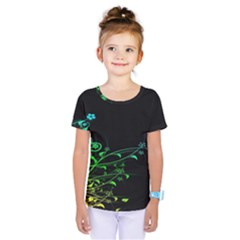 Abstract Colorful Plants Kids  One Piece Tee