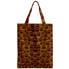 Angels In Gold And Flowers Of Paradise Rocks Zipper Classic Tote Bag by pepitasart
