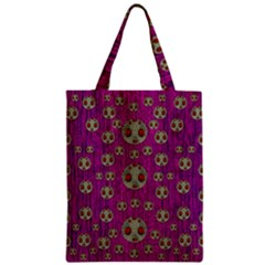 Ladybug In The Forest Of Fantasy Zipper Classic Tote Bag by pepitasart