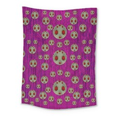 Ladybug In The Forest Of Fantasy Medium Tapestry by pepitasart