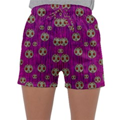Ladybug In The Forest Of Fantasy Sleepwear Shorts
