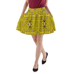 Stars And Flowers In The Forest Of Paradise Love Popart A Line Pocket Skirt by pepitasart