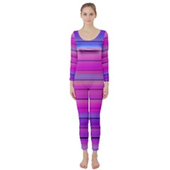Cool Abstract Lines Long Sleeve Catsuit