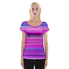Cool Abstract Lines Cap Sleeve Tops