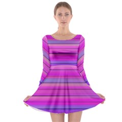 Cool Abstract Lines Long Sleeve Skater Dress