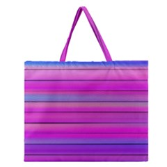 Cool Abstract Lines Zipper Large Tote Bag