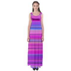 Cool Abstract Lines Empire Waist Maxi Dress