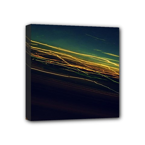 Night Lights Mini Canvas 4  X 4  by BangZart