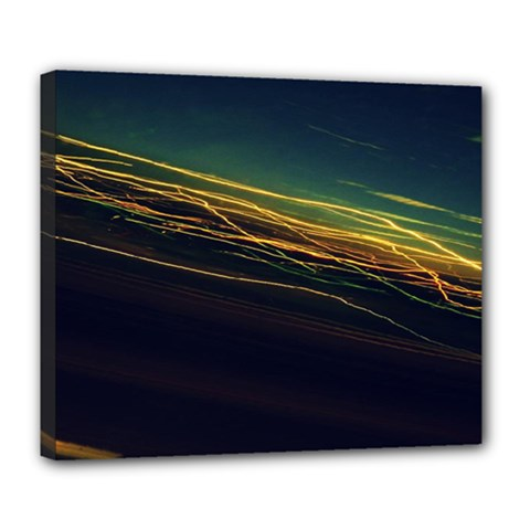 Night Lights Deluxe Canvas 24  X 20   by BangZart