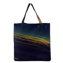 Night Lights Grocery Tote Bag by BangZart