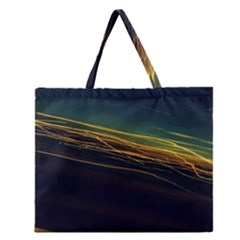 Night Lights Zipper Large Tote Bag by BangZart