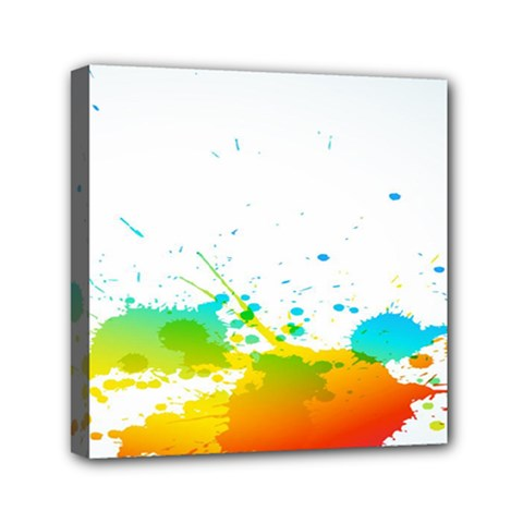 Colorful Abstract Mini Canvas 6  X 6  by BangZart