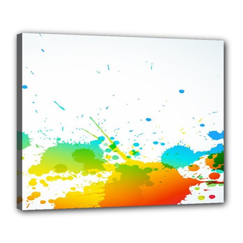 Colorful Abstract Canvas 20  X 16  by BangZart
