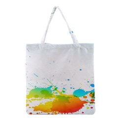 Colorful Abstract Grocery Tote Bag by BangZart