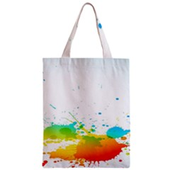 Colorful Abstract Zipper Classic Tote Bag by BangZart