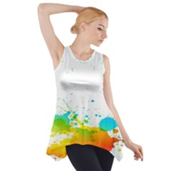 Colorful Abstract Side Drop Tank Tunic