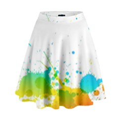 Colorful Abstract High Waist Skirt