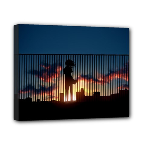 Art Sunset Anime Afternoon Canvas 10  X 8  by BangZart