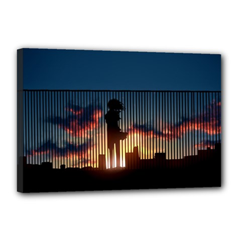 Art Sunset Anime Afternoon Canvas 18  X 12