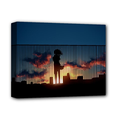 Art Sunset Anime Afternoon Deluxe Canvas 14  X 11
