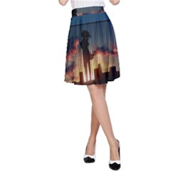 Art Sunset Anime Afternoon A Line Skirt