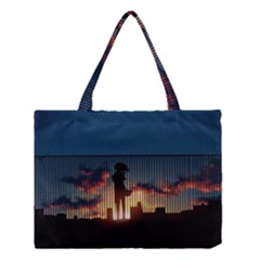 Art Sunset Anime Afternoon Medium Tote Bag by BangZart