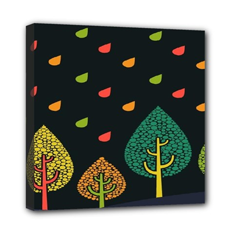 Vector Color Tree Mini Canvas 8  X 8  by BangZart