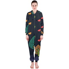 Vector Color Tree Hooded Jumpsuit (ladies)