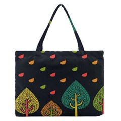 Vector Color Tree Medium Zipper Tote Bag
