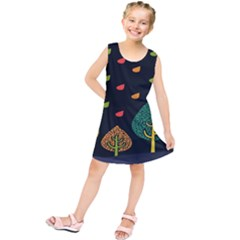 Vector Color Tree Kids  Tunic Dress