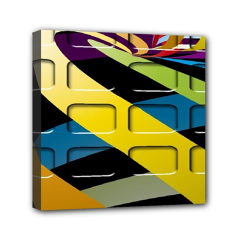 Colorful Docking Frame Mini Canvas 6  X 6  by BangZart