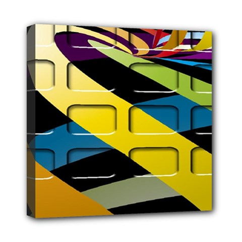 Colorful Docking Frame Mini Canvas 8  X 8  by BangZart
