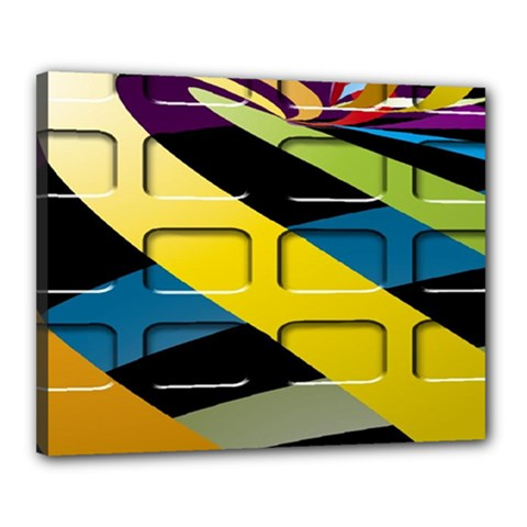 Colorful Docking Frame Canvas 20  X 16