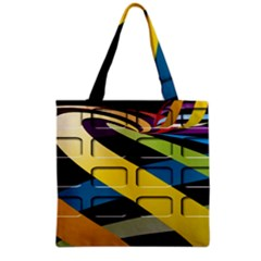Colorful Docking Frame Grocery Tote Bag by BangZart