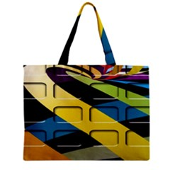 Colorful Docking Frame Zipper Mini Tote Bag by BangZart