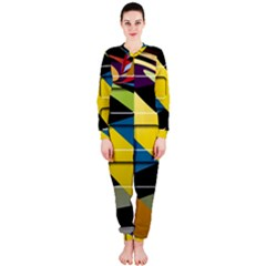 Colorful Docking Frame Onepiece Jumpsuit (ladies)