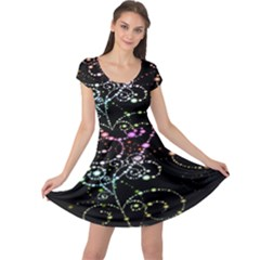 Sparkle Design Cap Sleeve Dresses