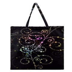 Sparkle Design Zipper Large Tote Bag by BangZart