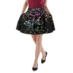 Sparkle Design A Line Pocket Skirt