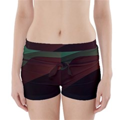 Color Vague Abstraction Boyleg Bikini Wrap Bottoms
