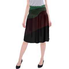 Color Vague Abstraction Midi Beach Skirt