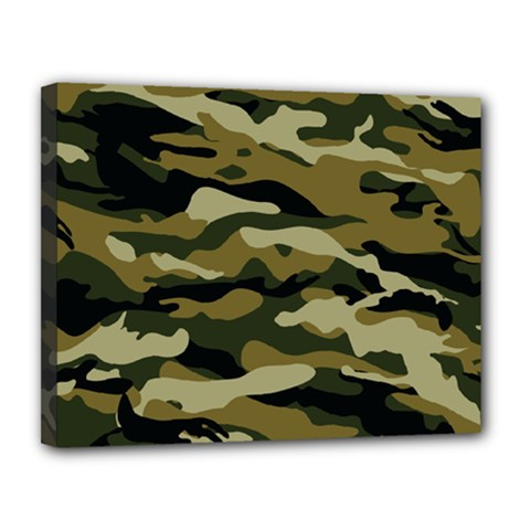 Military Vector Pattern Texture Canvas 14  X 11  by BangZart