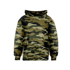 Military Vector Pattern Texture Kids  Pullover Hoodie