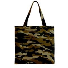 Military Vector Pattern Texture Zipper Grocery Tote Bag by BangZart